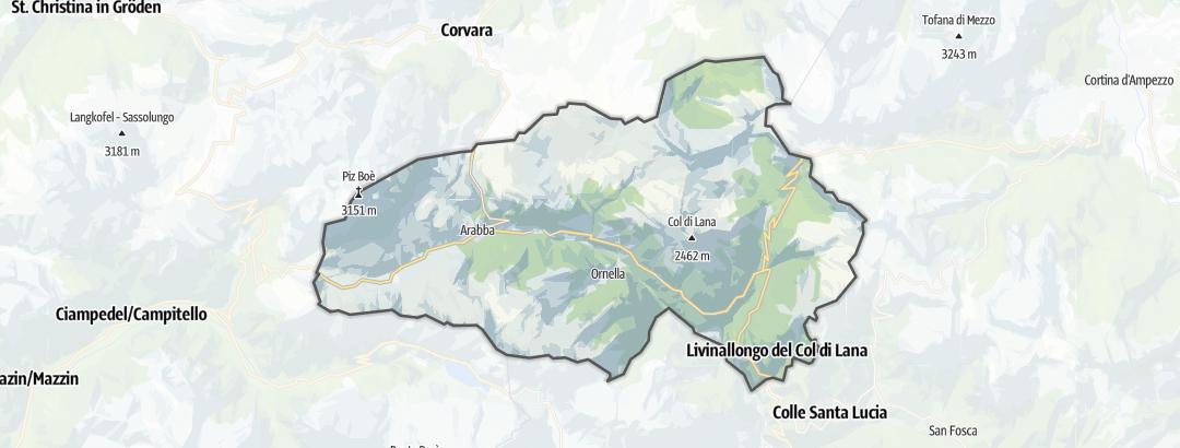 Carte / Grandes traversées VTT - Livinallongo del Col di Lana