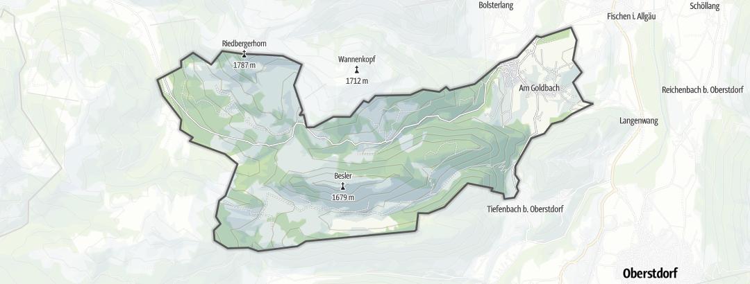 Karte / Ferienwohnungen in Obermaiselstein
