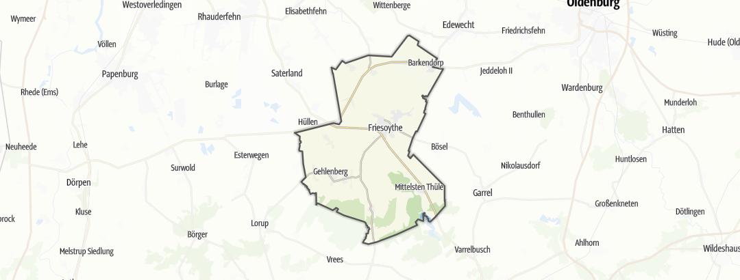 Kart / Sykling i Friesoythe
