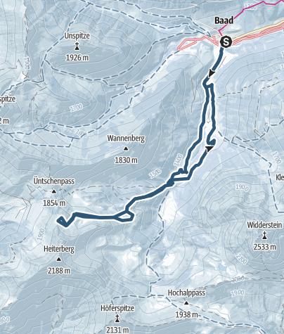 Karte / Gamsfuß