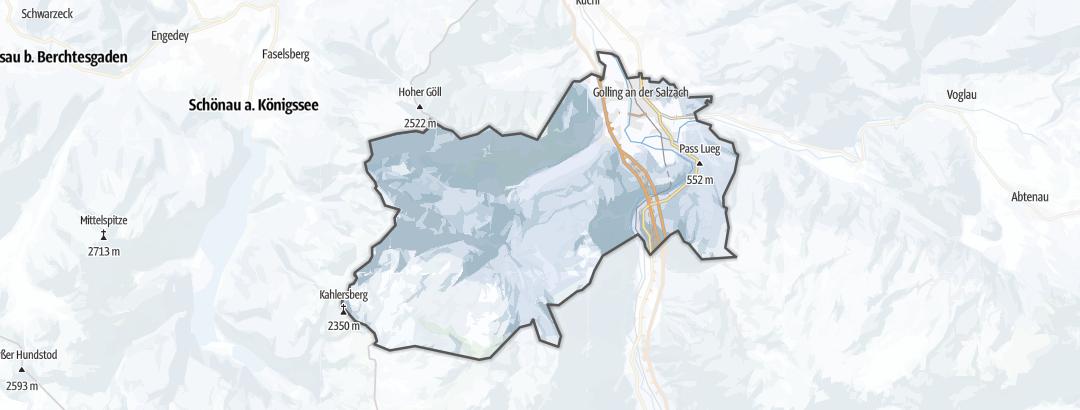 Carte / Ski de randonnée - Golling an der Salzach