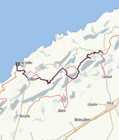 Karte / Auf dem GR221 von Soller nach Lluc