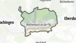 Mapa / Reichenbach an der Fils