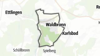 Mapa / Waldbronn