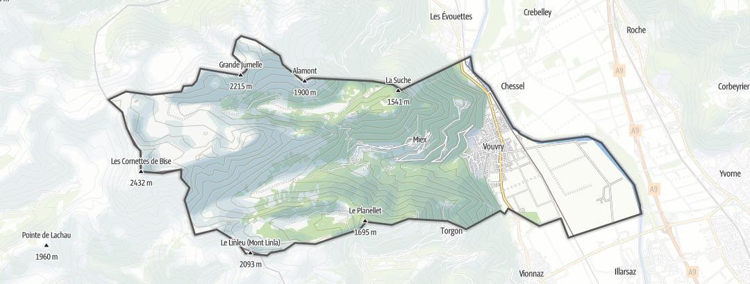 Térkép / Túrázás,  Vouvry területén