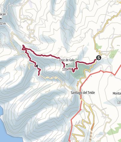 Karte / Puerto de Erjos nach Masca