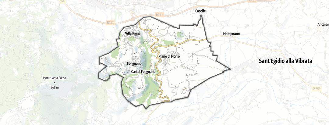 Карта / Тропы горного велосипеда в Folignano