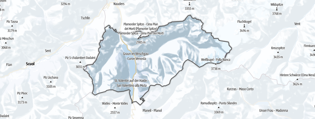 Map / Long distance ski tours in Graun im Vinschgau