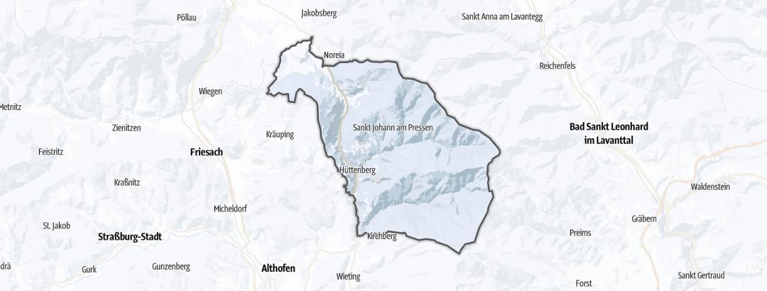 Карта / Зимние виды спорта в Hüttenberg