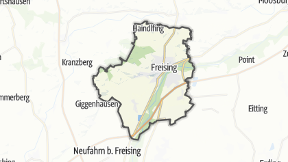 Freising Germany Map.The Top Hiking Trails In Freising