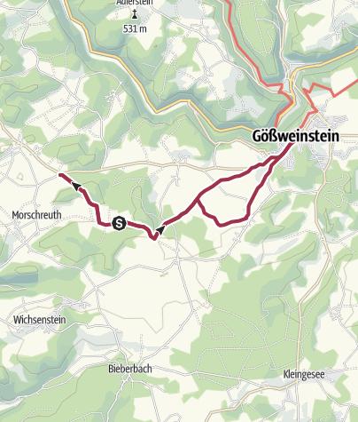 Fränkische Schweiz Karte.Fränkische Schweiz Von Moggast Nach Gößweinstein Wanderung
