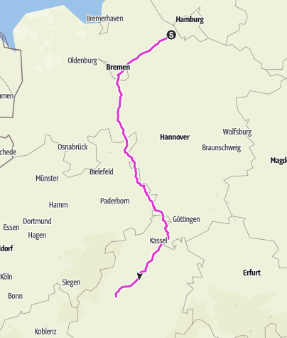 Mapa / Wolfis Heimfahrt