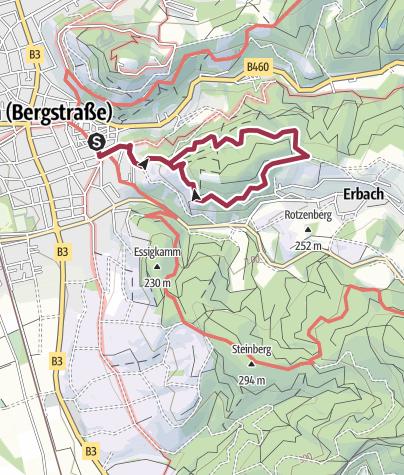 Karte / Heppenheim: Maiberg-Weg