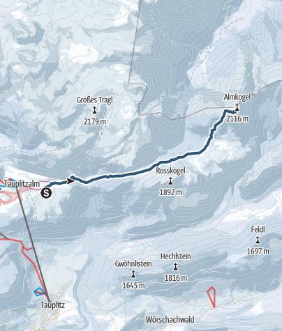 Karte / Almkogel (2121m) von Tauplitzalm