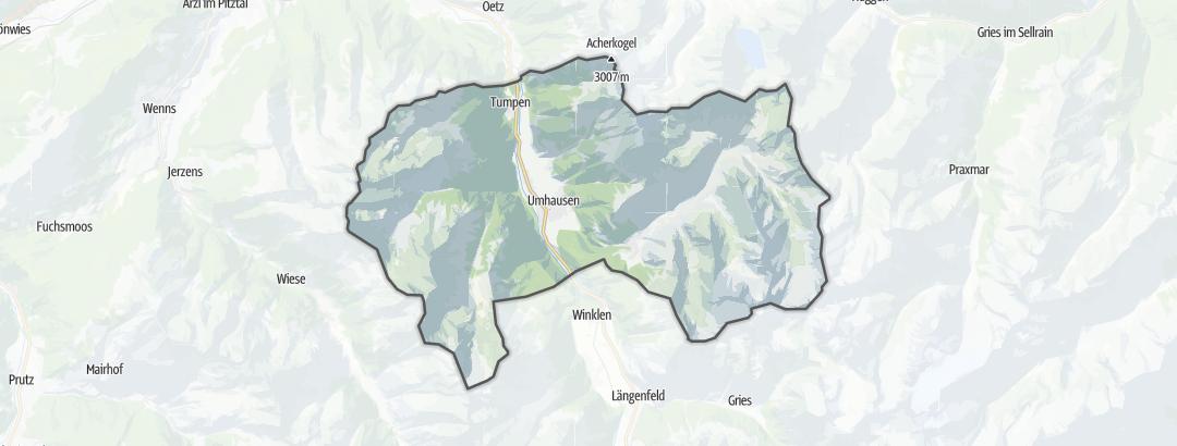 Mapa / Passeios de bicicleta em Umhausen