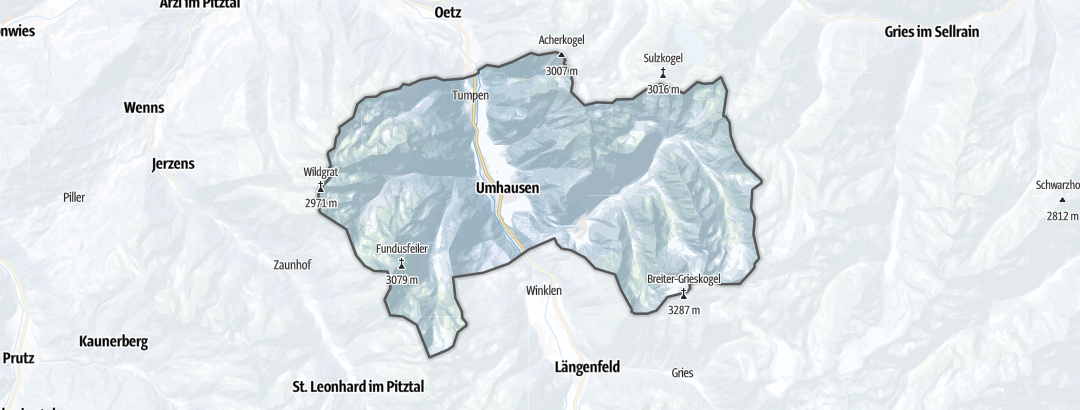 Map / Long distance ski tours in Umhausen