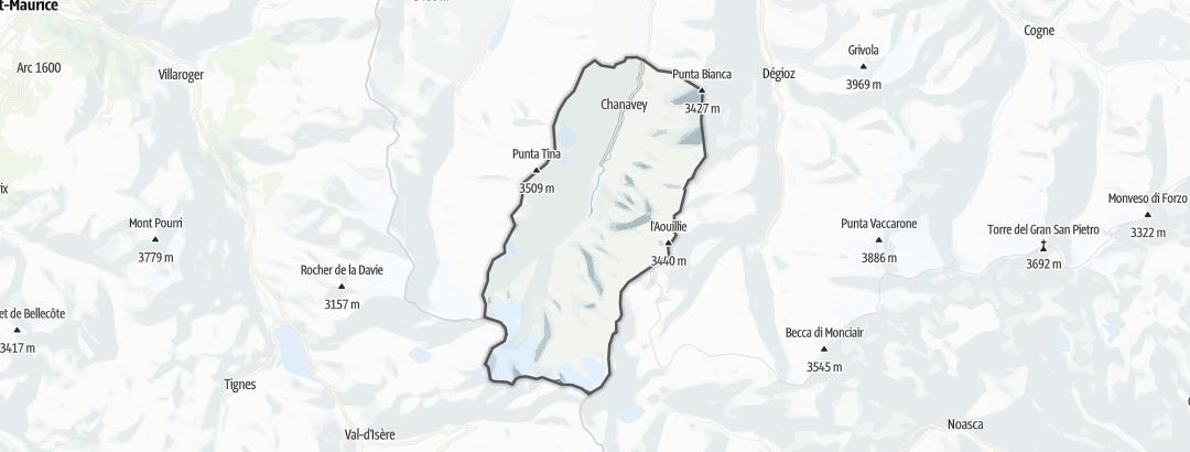 Kartta / Vuoristovaellusreitit kohteessa Rhemes-Notre-Dame