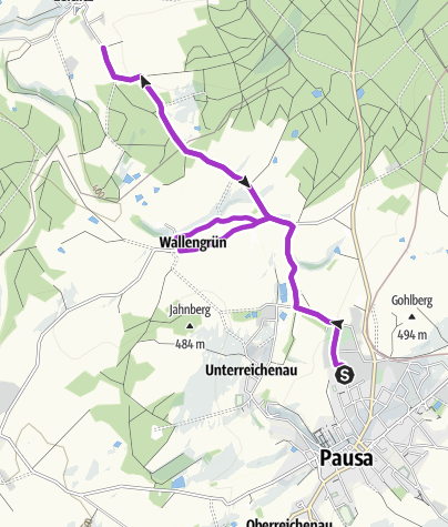 Karte / Pausa 10km ( Erdachsenlauf)