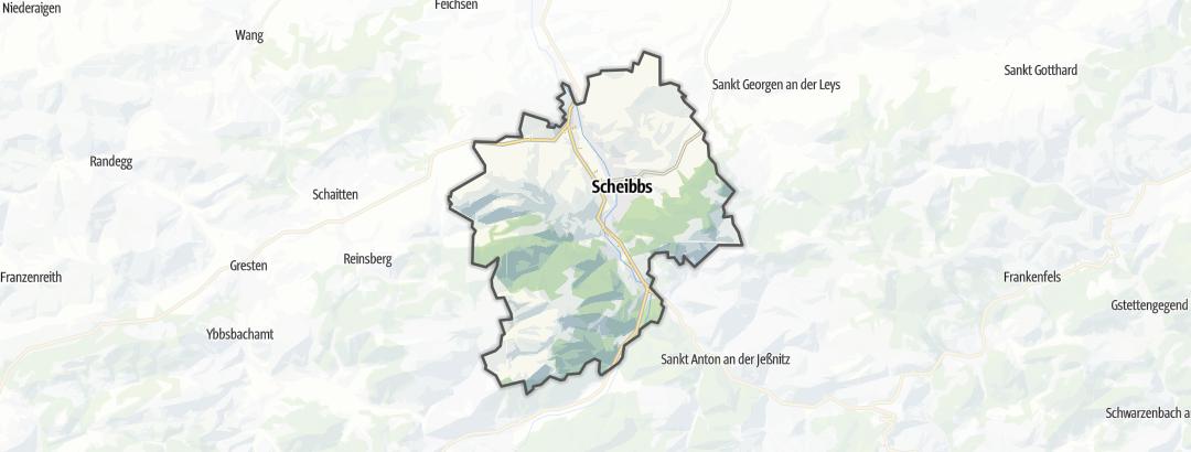 Karte / Wanderungen in Scheibbs