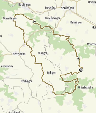 Karte / Wanderritt Meteoritentour ins Ries