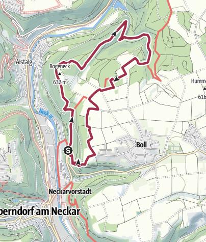 Karte / Paradiesweg Boller Fels