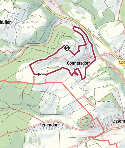 Karte / Rundwanderweg Gönnersdorf blau