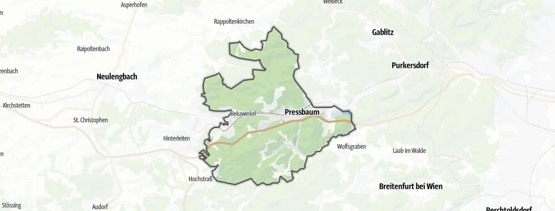 Mapa / Trilhas de caminhada em Pressbaum