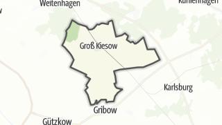Cartina / Groß Kiesow