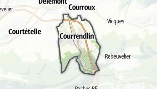 Mapa / Courrendlin