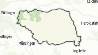 Karte / Gutsbezirk Münsingen, gemeindefreies Gebiet