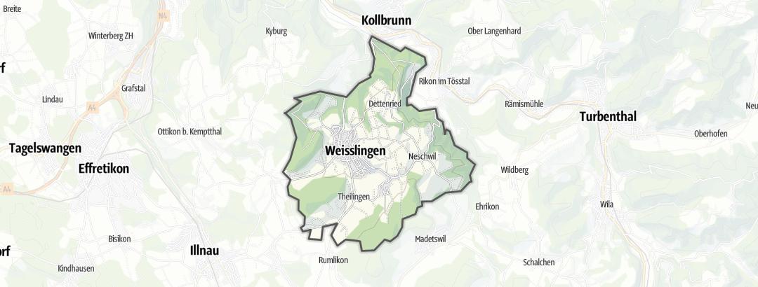 Mapa / Senderismo en Weisslingen