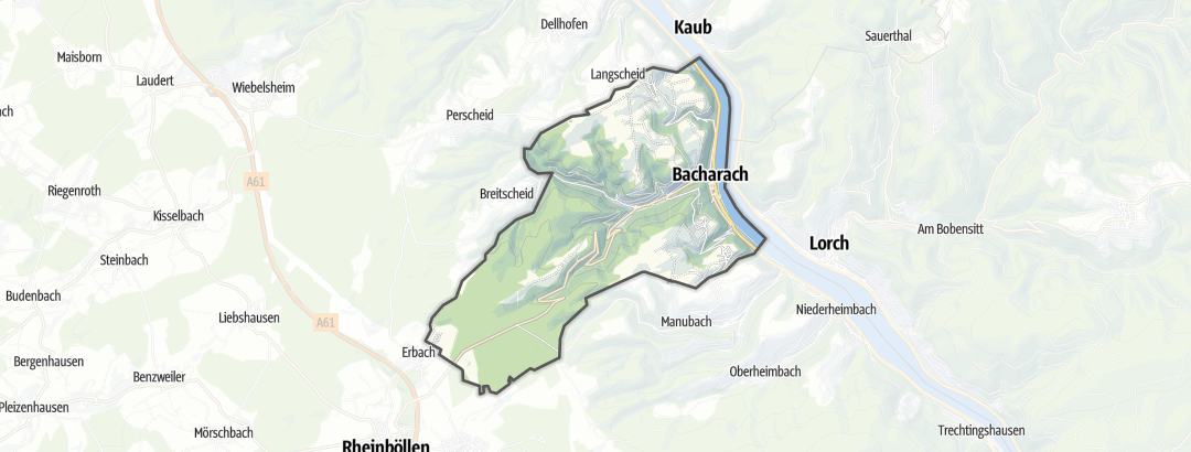 Map / Long-distance hikes in Bacharach