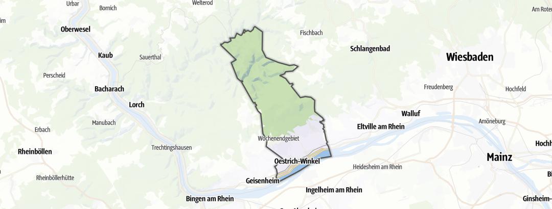 Mappa / Trekking a Oestrich-Winkel
