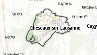 Карта / Cheseaux-sur-Lausanne