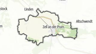 Cartina / Zell an der Pram