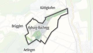 Karte / Kyburg-Buchegg