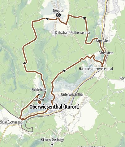 Karte / Karzl-Tour von Neudorf nach Oberwiesenthal und zurück