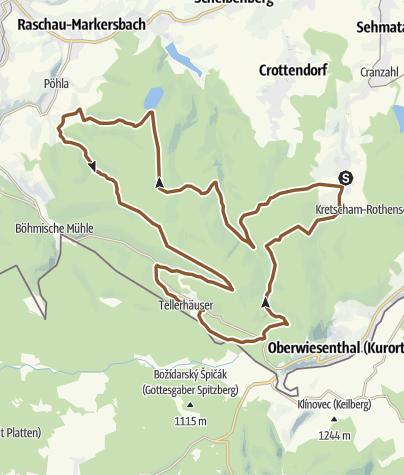 Karte / Karzl-Tour von Neudorf nach Pöhla und zurück