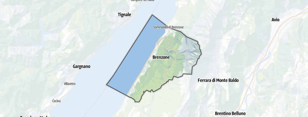 Map / Hikes in Brenzone