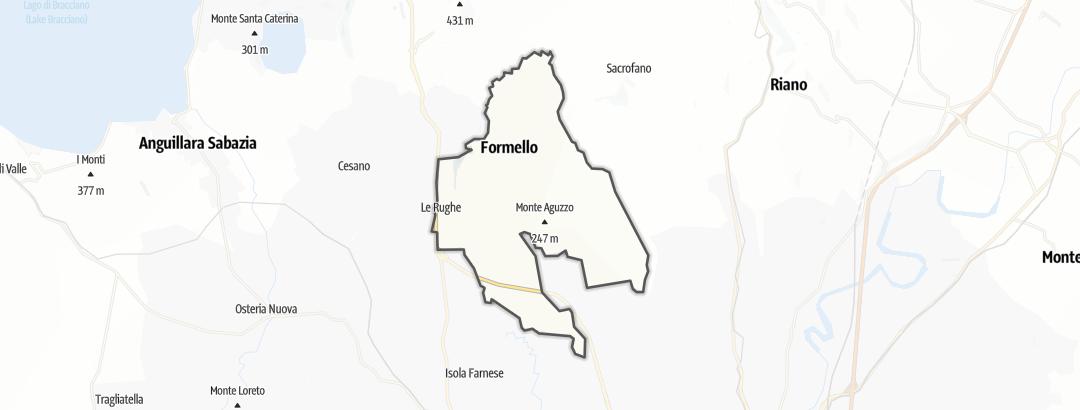 地图 / 在Formello里的朝圣路线
