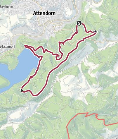 Karte / Zwei  Burgen  Rundweg