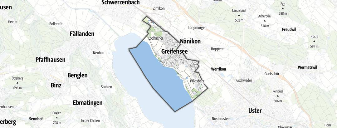 Mapa / Trilhas de caminhada em Greifensee