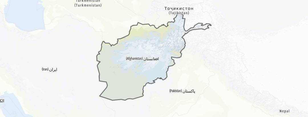 Hartă / Ciclism in Afghanistan