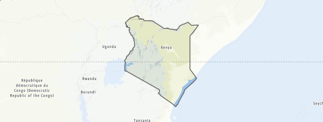 Kartta / Kenia