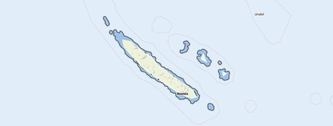 Carte / Nouvelle-Calédonie