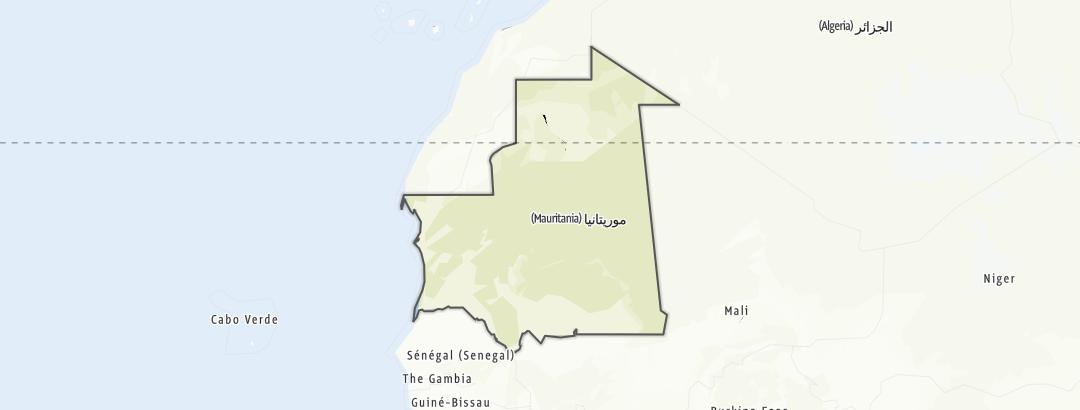 Carte / Mauritanie