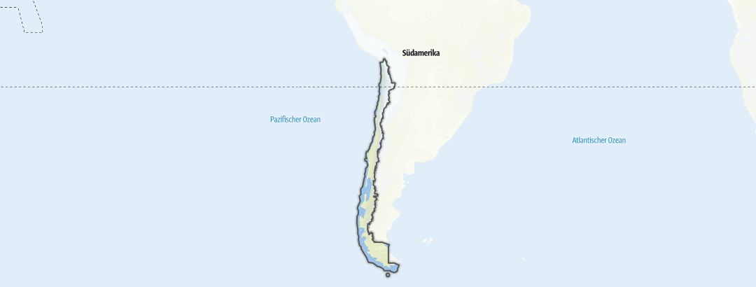 Map / Hikes in Chile