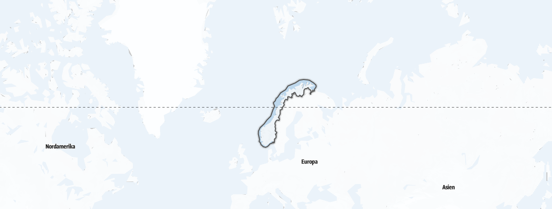 Map / Winter Sports in Norway