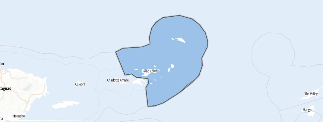 Carte / Îles Vierges britanniques