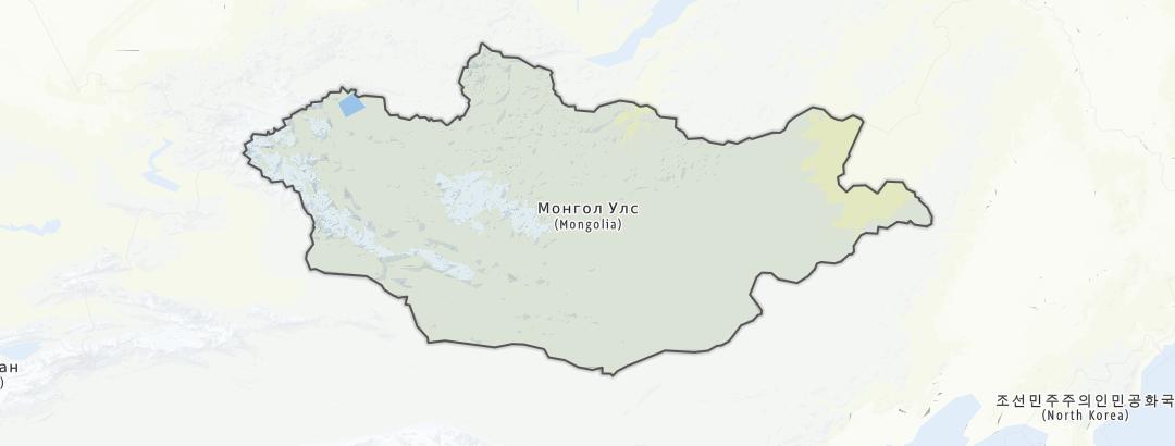 Mapa / Mongolia